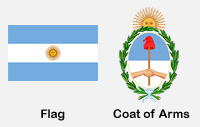 Argentina Flag & Coat of Arms
