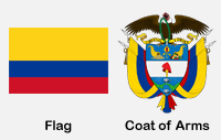 Colombia Flag & Coat of Arms