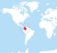 Map location of Colombia
