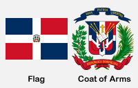 Dominican Republic Flag and Coat of Arms