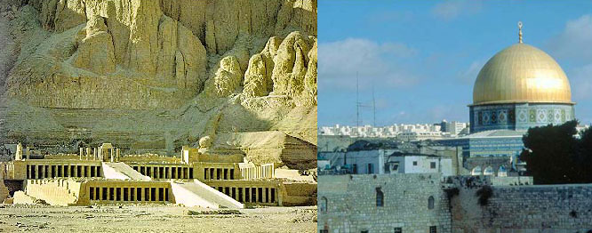 Temple of Queen Hatshepsut & Dome of the Rock