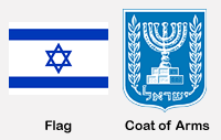 Israel Flag and Coat of Arms