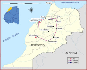 Map of The Best of Morocco Tour