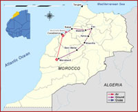Map of Morocco - Egypt & Morocco Tour
