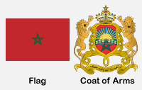 Morocco Flag & Coat of Arms