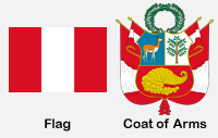 Peru Flag & Coat of Arms
