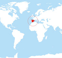 Map location of Spain